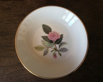 Vintage Wedgewood Hathaway Rose Bone China Small Side Plate circa 1970's / English Shop