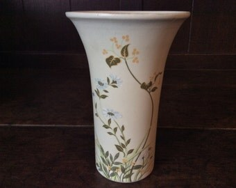Vintage English Poole Ceramic Flower Vase circa 1970's / English Shop