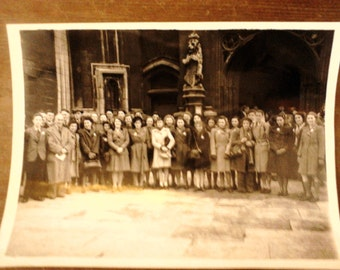 Vintage English ladies gentlemen group photograph photo circa 1920's / English Shop