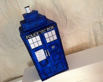 Painted TARDIS Pinata, Dr. Who, Time Travel