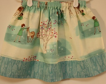 Michael Miller Wee Wander Woods Skirts  Size 2 to 7