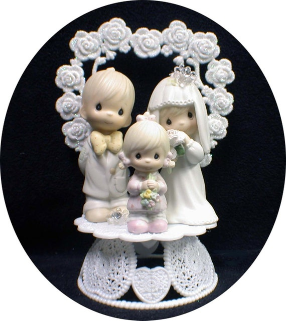 wedding cake toppers bride groom daughter wedding cake topper family figures groom child 26425