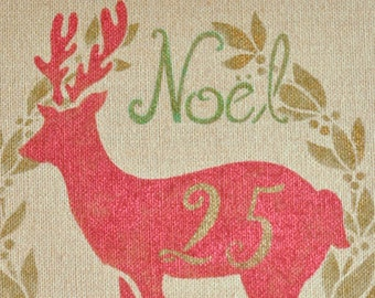 Typography Script Numbers Christmas Furniture and Craft Stencil for DIY Decor