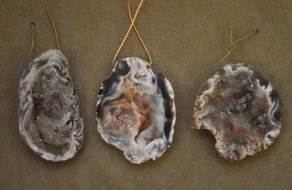 3  Geode  Drusy  Agate  Slices