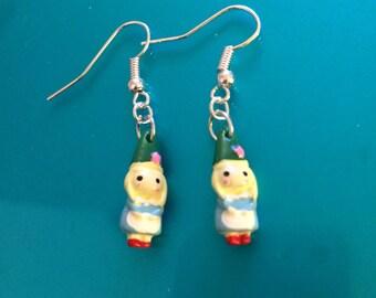 Little Girl Gnome or Elf earrings.