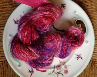 Glee! Hand spun angora goat fiber yarn