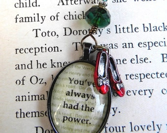 WIZARD of OZ  Necklace, Oz Necklace, Youve Always Had The Power, Oz Jewelry, Glinda Dorothy Red Shoes