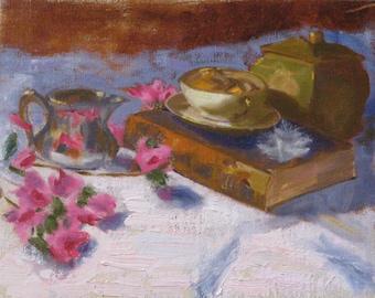 My Elegant Indulgences - Original Oil Painting