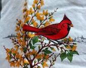 BIRD Quilt American Songbird Quilt Square Fabric 100% Cotton 2 1/3 yards 60 Quilt Squares VIP Cranston Wks Robin Bluebird Cardinal Goldfinch