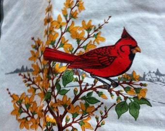 BIRD Quilt American Songbird Quilt Square Fabric 100% Cotton 2 1/3 yards 60 Quilt Squares VIP Cranston Wks Robin Bluebird Cardinal Goldfinch