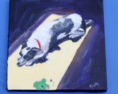 Dog Painting - Original Oil - Pet Animal - Puppy Painting