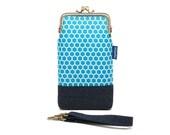 Serene blue honeycomb smartphone kisslock sleeve