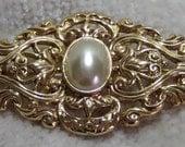 Vintage Gold and Pearl Pin, Dena