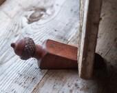 Acorn Doorstop,  Wood Door Wedge,  Small Artisan Gift, Gift under 25