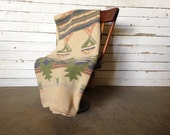 Vintage 1920s Tribal Navjo Patterned Camp Blanket