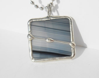 Black and white square stained glass pendant wire design free shipping