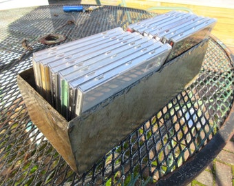 CD organizer box made from weathered slate nice natural colors  #DT-22