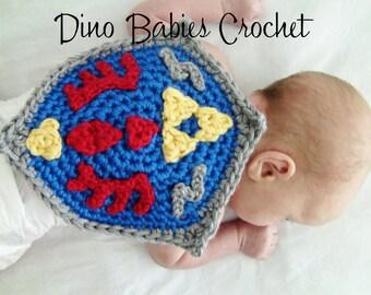 Hyrule Shield Newborn Crochet Cape Photography Prop
