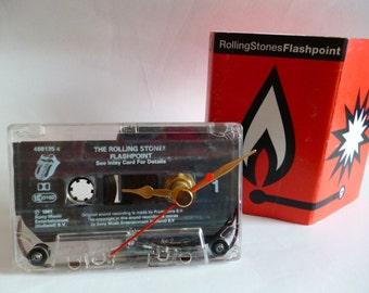 ROLLING STONES Cassette Tape Desk Clock Unusual Retro Gift Mick Jagger Keith Richards Rock Music