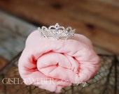Baby Wrap Set, Silver Baby Crown, Newborn Photo Props, Newborn Wrap Set, Silver Newborn Crown, Baby Crown, Baby Crown Set, Baby Photo Prop
