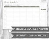 Geo Grey Class Schedule - Planner Add On : DIGITAL FILE