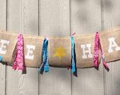 Sheriff Callie, Cowgirl Birthday,  Bachelorette Banner, Burlap Banner, Birthday Banner, Cowgirl Banner, Yee Haw Banner, Photo Prop