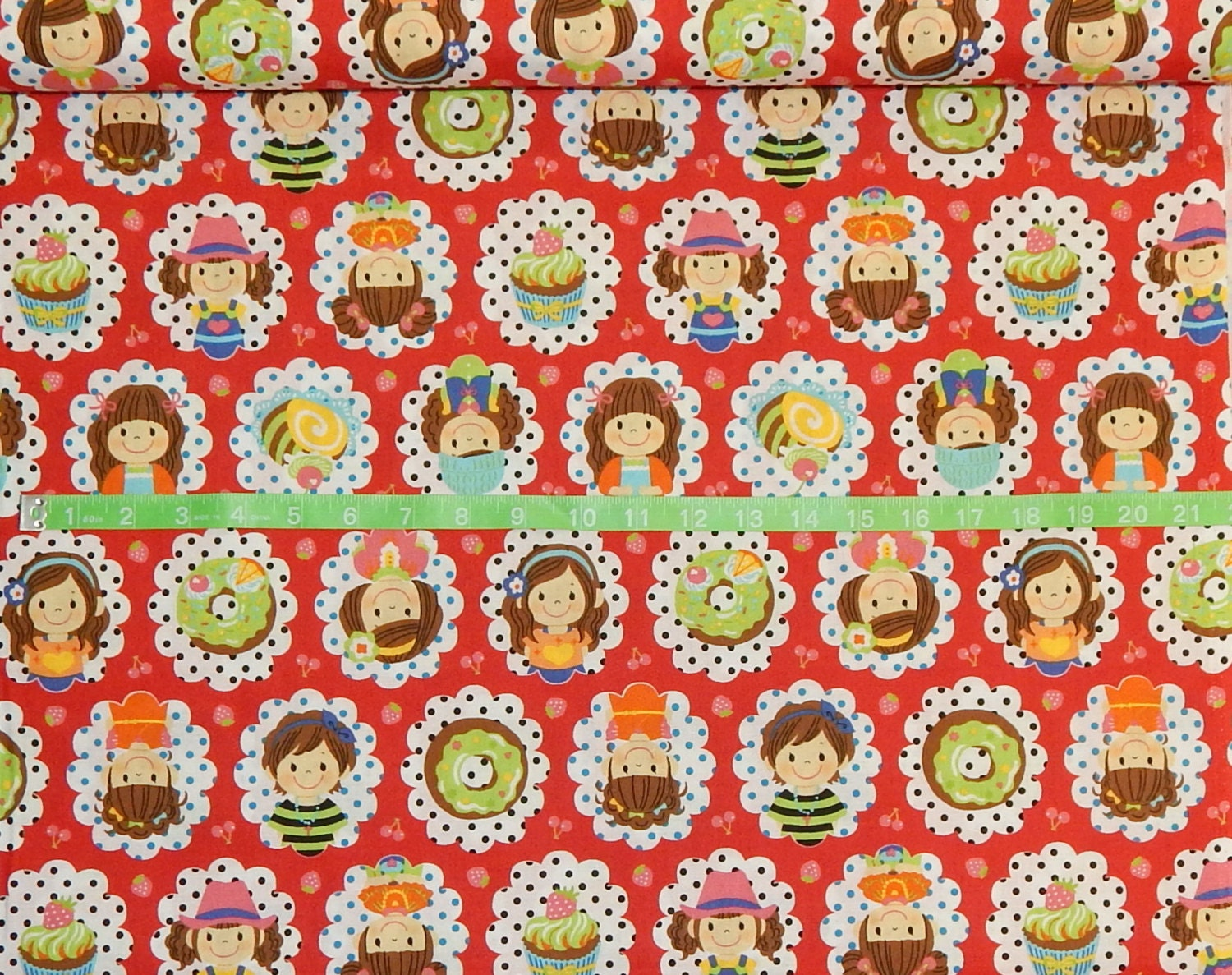 Kokka children medallion print bty cotton fabric japanese for Childrens patterned fabric