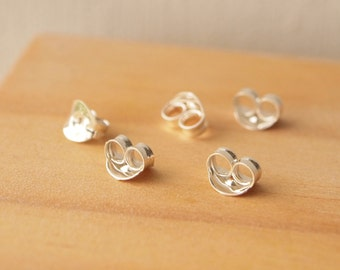 Sterling Silver Earring Backs, Spare Butterfly Earring Backs, Ear Stud Backs, 925 Earring Findings