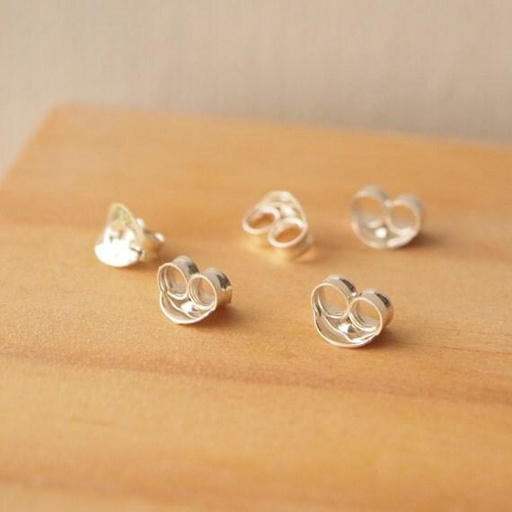 sterling silver earring backs spare butterfly earring backs