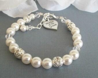 Mother of the Groom Bracelet,MOG Charm,Mother of the Groom Charm Bracelet,Mother of the Groom Wedding Gift,Keepsake Memorable Jewelry