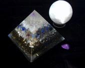 Moon Pyramid - Dark Moon - Orgone Energy Amplifying Pyramid - Wishes-Intuition-Femininity-Psychic Abilities-Angelic Energies-Moon Energies