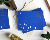 Tis the Season to be Merry! / Letterpress Printed Cards/ Set of 6