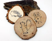 10 Party Shower Favors    Reclaimed Branch Table Markers    Woodland Decor Arts Crafts Tags Magnets Business Card Table Decor