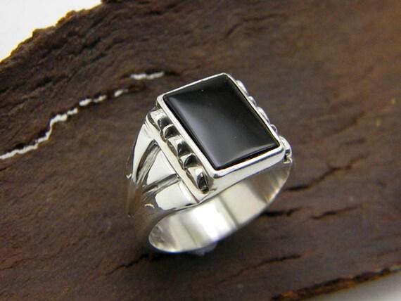 big sterling silver black onyx s ring black