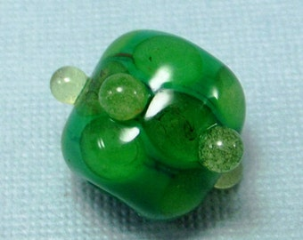 Dread Bead | Envy Green | Glow In The Dark | Glass Dread Bead | Dreadlock Accessories | Handmade Dread Bead | Glows in the Dark!