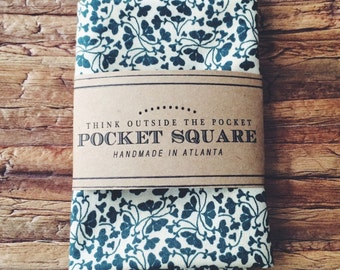 Pocket Square || Forest Clover