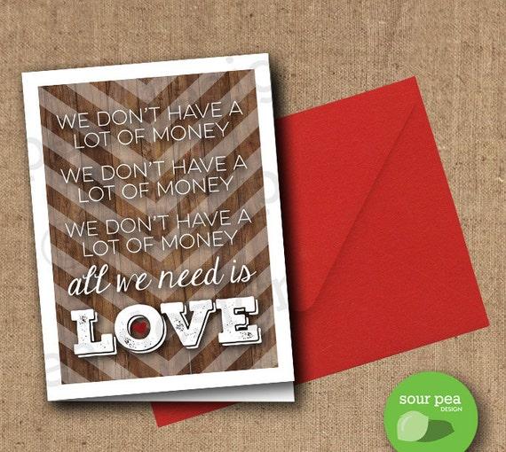 Items Similar To Romantic Greeting Card