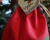 Hawaiian angel, Anela, ornament, Hawaiian quilt red