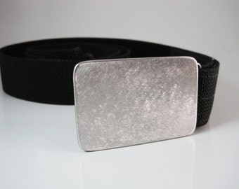Stainless Steel Belt Buckle - Brushed Finish - Handmade