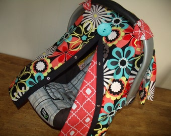 infant car seat cover girl paisley by fashionfairytales on etsy. Black Bedroom Furniture Sets. Home Design Ideas