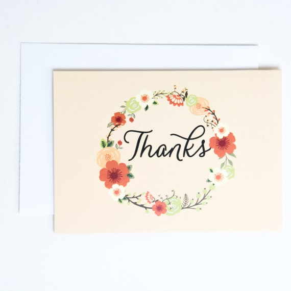 Thank You Cards in Peach
