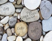 Family Rock Print, Personalized Birthday Gift for Mom, Family Rocks, Gift for Grandma, Genealogy Art Print, River Rocks
