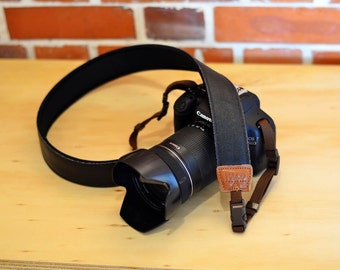 Pure Black Camera Strap suits for DSLR / SLR with Quick Release Buckles