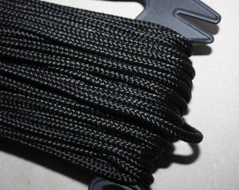 6 mm Braided Cord Nylon = 1 spool = 27 Yards = 25 Meter Elegant Rope - Black