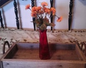 Reclaimed Wood  Serving or Display Tray with Horseshoe Handles