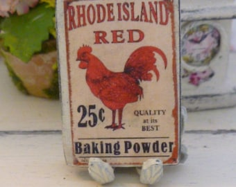 Dollhouse Miniature Shabby Rhode Island Red Picture For your Dollhouse