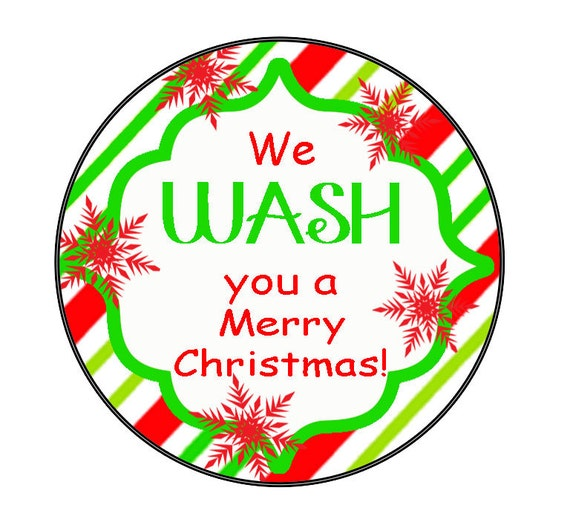 INSTANT DOWNLOAD: We WASH You a Merry Christmas Gift Tag - Attach to ...