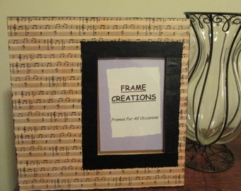 5x7 Music Themed - Hand Decorated Picture Frame