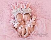 Bunny Hat Crochet Pattern - Baby Bonnet Crochet Pattern - Bunny Amigurami Pattern - Easter Hat Pattern - Baby Crochet Pattern - Animal Hat