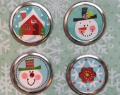Winter Magnets set of 4